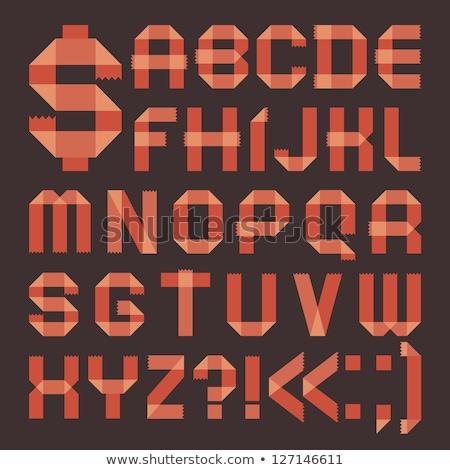Font from reddish scotch tape -  Roman alphabet Stock photo © Ecelop