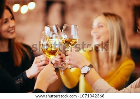 ストックフォト: ワイン · 少女 · ブロンド · カラフル · ビキニ