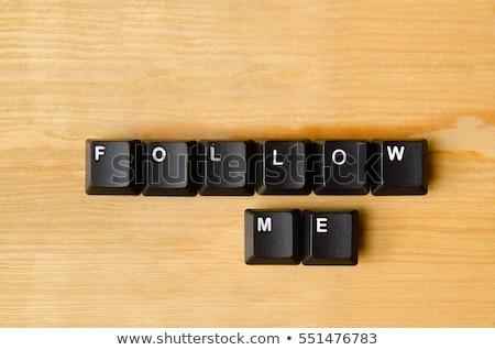 Follow Me button key Stock photo © REDPIXEL