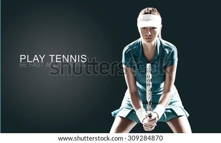 mannelijke · tennisspeler · jonge · wachten · bal · gezicht - stockfoto © juniart