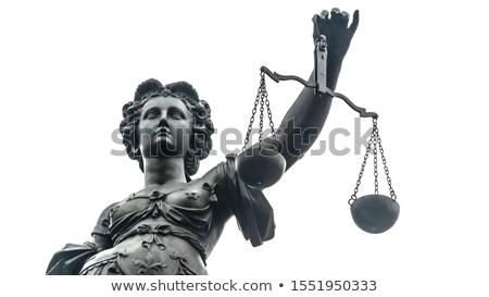 Lady правосудия Франкфурт женщину небе здании Сток-фото © meinzahn