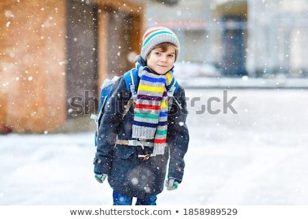 зима деятельность мало ребенка снега Сток-фото © Escander81