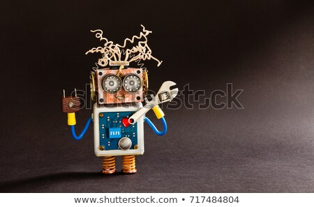 Cute robot with big red heart Stock photo © Kirill_M