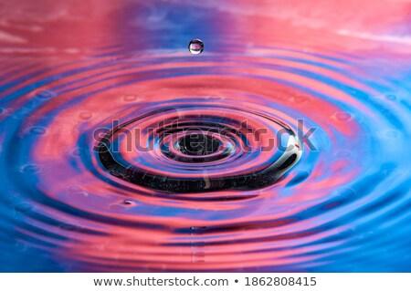 Blue drop towards Stock photo © mizar_21984