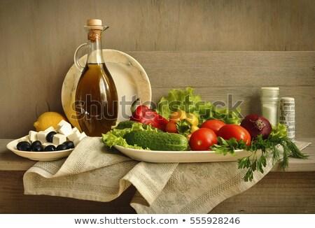 Paradicsom zöldségek petrezselyem levelek csendélet izolált Stock fotó © natika