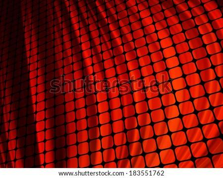 Red waves light 3D mosaic. EPS 10 Stock photo © beholdereye