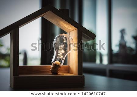 Stockfoto: Huis · gloeilamp · business · natuur · venster · zomer