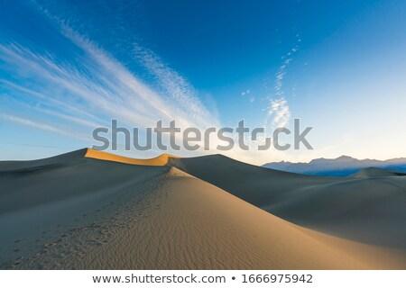 пустыне · песок · облака · Blue · Sky · пейзаж · природного - Сток-фото © backyardproductions