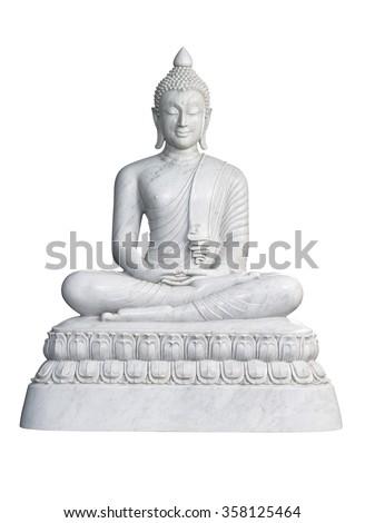 Statue of  Buddha isolated on white Stock photo © Yongkiet