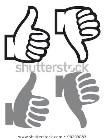 thumbs up purple vector icon design stock photo © rizwanali3d