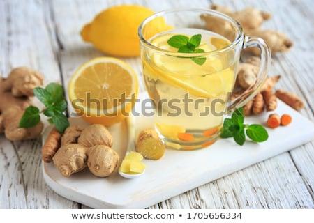 чай · имбирь · лимона · белый · Кубок · продовольствие - Сток-фото © grafvision
