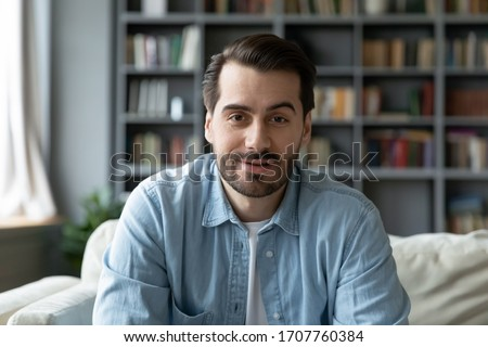 handsome man looking at the camera stock photo © feedough