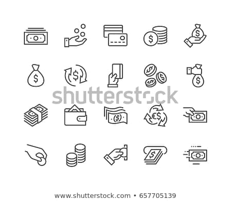 Soldi icona banca bag carta contanti Foto d'archivio © kiddaikiddee