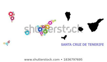 Mapa tenerife vermelho vetor Espanha isolado Foto stock © rbiedermann