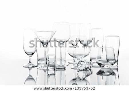 Empty Drinking Glasses Stock photo © PokerMan