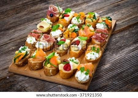 ストックフォト: ハム · チーズ · 食品 · パン · イチゴ · 新鮮な