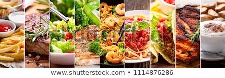 Válogatás étel kenyér olaj kosár sárgarépa Stock fotó © M-studio