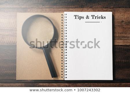 ヒント 木製のテーブル 言葉 オフィス 鉛筆 教育 ストックフォト © fuzzbones0