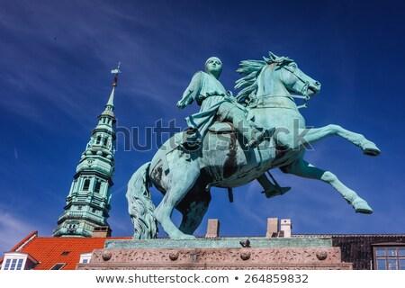 квадратный Копенгаген Дания статуя Церкви Сток-фото © vladacanon