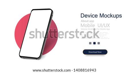 Mobiltelefon izometrikus tükör tükröződés izolált fehér Stock fotó © kup1984