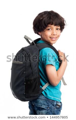 Viaggiatore mano tasca sorridere giovani Foto d'archivio © RAStudio