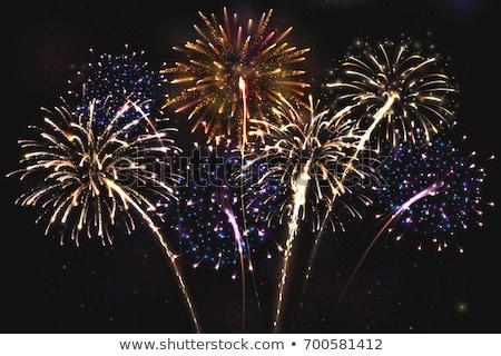 vector · gelukkig · nieuwjaar · illustratie · 3D · aantal · vallen - stockfoto © articular