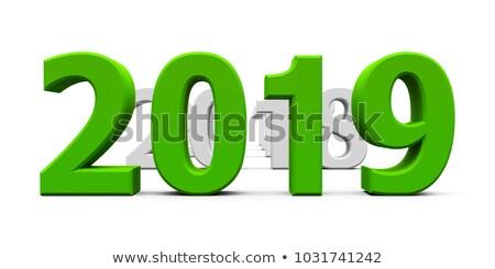 año · nuevo · verde · color · acuarela · número · aislado - foto stock © oakozhan