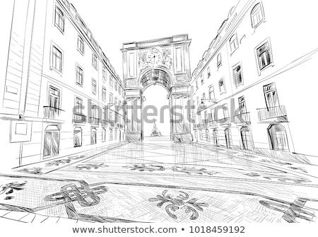 Лиссабон арки Португалия торговли квадратный улице Сток-фото © joyr