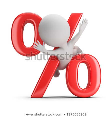 3d small people   clamped by percent stock photo © anatolym