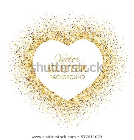 gouden · harten · decoratief · valentijnsdag · abstract · achtergrond - stockfoto © sarts
