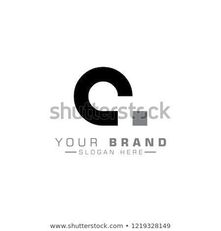 C betű absztrakt fekete vektor szimbólum alkotóelem Stock fotó © blaskorizov