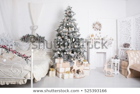 Christmas decorated studio shot Stock photo © bdspn