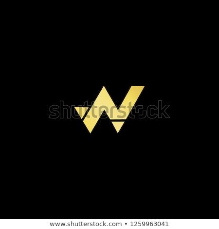 List w logo ikona czarny podpisania symbol Zdjęcia stock © blaskorizov
