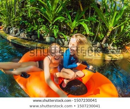 moeder · zoon · leuk · waterpark · familie · gelukkig - stockfoto © galitskaya