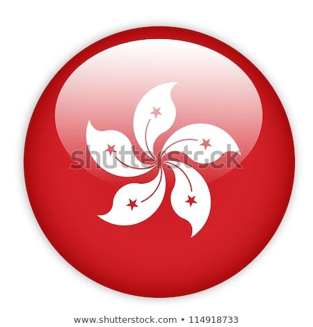 Flag of Hongkong in round frame Stock photo © colematt