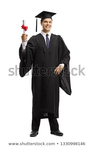 Young handsome man graduating from university  Stock photo © Elnur