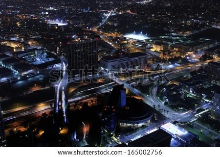 Stockfoto: Futuristische · nacht · stadsgezicht · vector · illustratie · stad