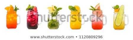 оранжевый напиток каменщик банку служивший стекла Сток-фото © nito