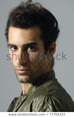 close up of handsome man with charming calm look stock photo © lichtmeister