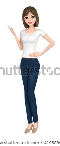 Basit iç çamaşırı genç kadın açıklama görüntü vektör Stok fotoğraf © toyotoyo