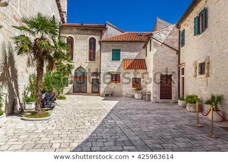 Rua Croácia estreito cidade velha parede verão Foto stock © borisb17