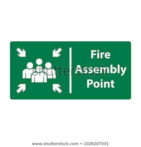 Emergência ponto assinar conselho verde cor Foto stock © Margolana