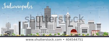 Linha do horizonte cinza edifícios blue sky turismo Foto stock © ShustrikS