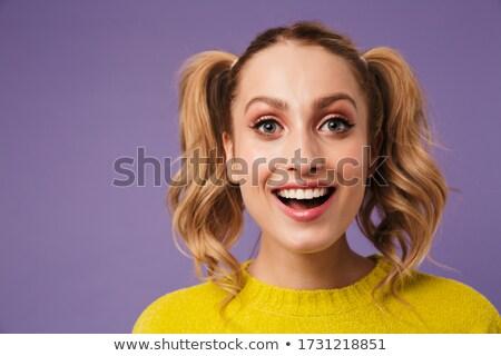 画像 興奮した 女性 2 笑みを浮かべて 見える ストックフォト © deandrobot