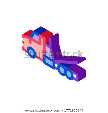 Tow Trick Service isometric icon vector illustration Stock photo © pikepicture