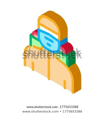 Szúnyog vadászrepülő izometrikus ikon vektor felirat Stock fotó © pikepicture