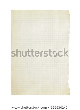 Old vintage stained graph paper isolated on a white background. Stock photo © latent