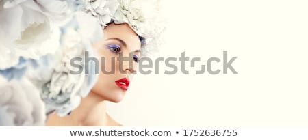 Stock photo: Woman with her hair in bunches