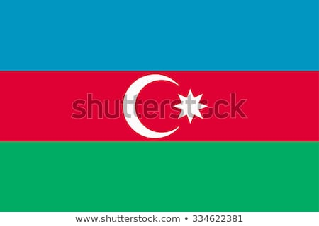 Azerbaiyán · bandera · vector · imagen · arte - foto stock © creisinger