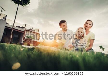 Pár zöldség kosár nő férfi boldog Stock fotó © photography33
